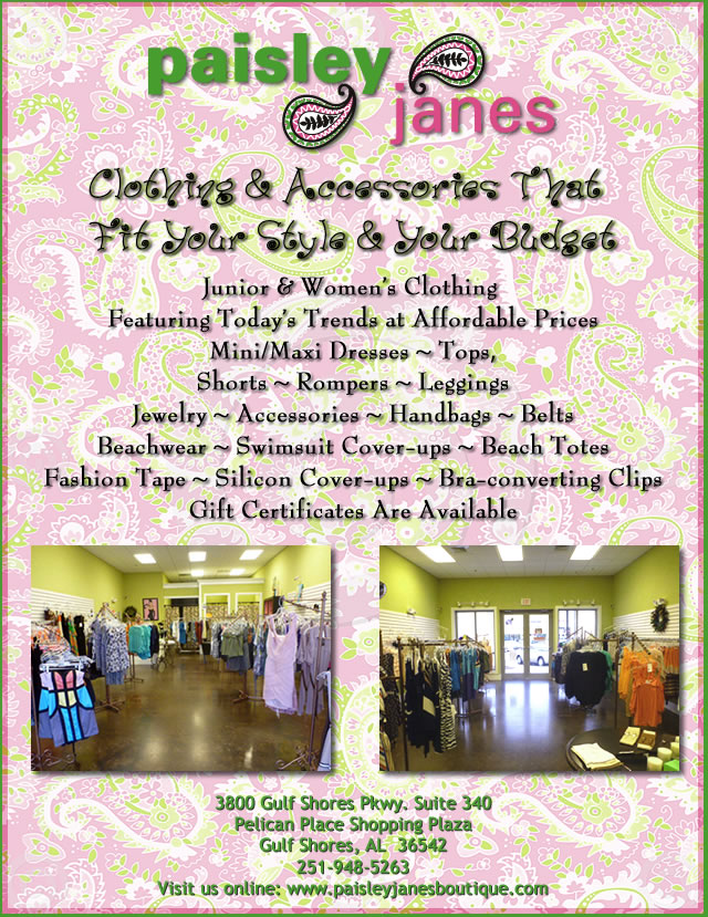Paisley Janes Boutique now open in Pelican Place Shopping Plaza